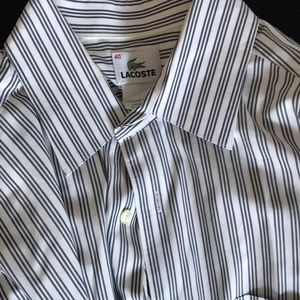Men's lacoste button down size 40